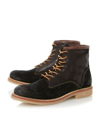 Bertie - Black Casters Lace Up Casual Chukka Boots for Men - Lyst