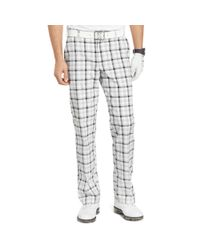 Izod | Gray Flat Front Plaid Golf Pants for Men | Lyst
