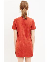Forever 21 - Orange Fringed Faux Suede Dress - Lyst