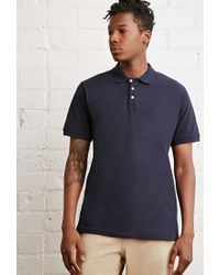 Forever 21 - Blue School Uniform Polo You've Been Added To The Waitlist for Men - Lyst