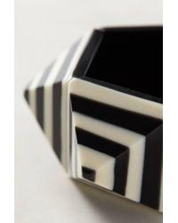 Anthropologie - Black Striped Pyramid Bracelet - Lyst