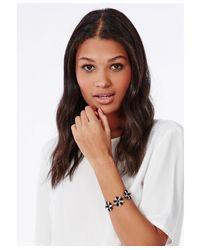 Missguided - Triple Cluster Bracelet Black - Lyst