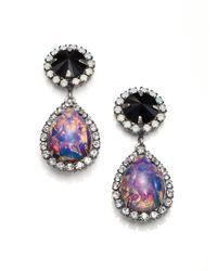 DANNIJO | Multicolor Noir Monaco Crystal & Cabochon Drop Earrings | Lyst