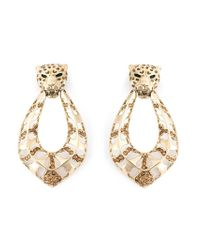 Roberto Cavalli | Metallic Leopard Clip-on Earrings | Lyst