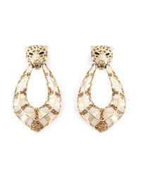 Roberto Cavalli - Metallic Leopard Clip-on Earrings - Lyst