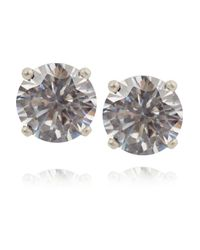Bottega Veneta - Metallic Orecchini Oxidized Sterling Silver Cubic Zirconia Earrings - Lyst