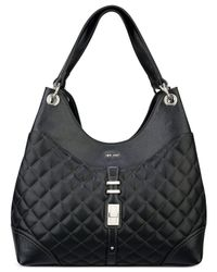 Nine West | Black Flip Lock Hobo | Lyst