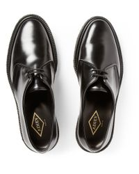 Adieu - Black Type 1 Polished-Leather Crepe-Soled Derby Shoes for Men - Lyst