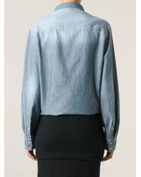 IRO - Blue Panelled Denim Shirt - Lyst
