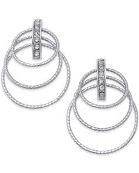 INC International Concepts | Metallic Silver-tone Triple Ring Drop Earrings | Lyst