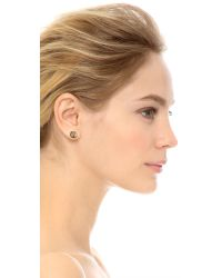 Jamie Wolf - Metallic Nycb Serenade White & Black Diamond Stud Earrings - Silver - Lyst