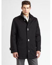 Ferragamo | Black Wool/cashmere Car Coat for Men | Lyst