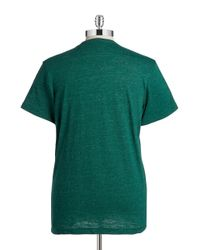 Brooks Brothers Red Fleece - Green Heathered Pocket Tee for Men - Lyst