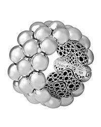 Lagos - Metallic Bold Caviar 3-row Cuff Bracelet - Lyst