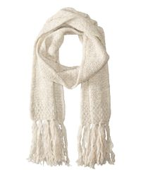 Lauren by Ralph Lauren | Natural Oversized Honeycomb Scarf | Lyst