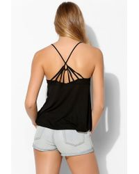 Silence + Noise | Black Strappy-Back Cami | Lyst