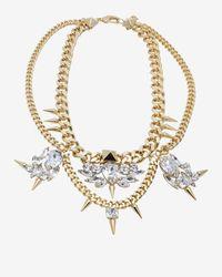 Fallon - Metallic Classique Bib Chain Necklacegold - Lyst