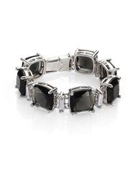 ABS By Allen Schwartz - Black Charmed Recolor Cushion Bracelet - Lyst