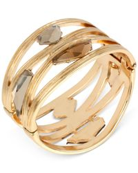 Robert Lee Morris - Metallic Bronze-tone Cutout Stone Bangle Bracelet - Lyst