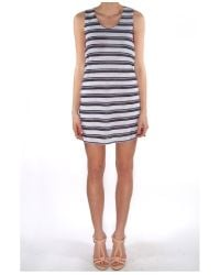 Harvey Faircloth - Blue Stripe Mini Dress - Lyst