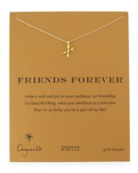 Dogeared | Metallic Friends Forever Gold-dipped Pendant Necklace | Lyst