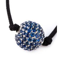 Shamballa Jewels | Black Rope Sapphire Bead Necklace | Lyst