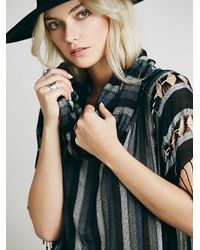 Free People - Multicolor Womens Katie Cowl Poncho - Lyst