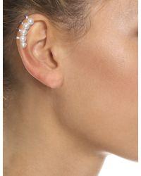 Maria Stern | Metallic Silver Five Pearl Ear Cuff | Lyst
