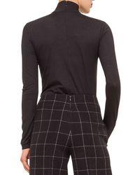 Akris Punto - Black High-waist Windowpane Check Culottes - Lyst
