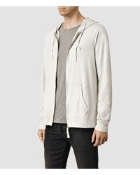 AllSaints | Gray Brace Hoody for Men | Lyst