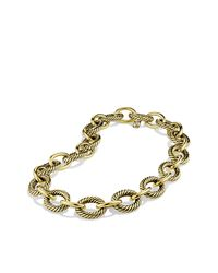 David Yurman | Metallic Extra-large Oval Link Necklace In 18k Gold | Lyst