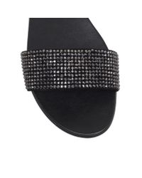 Vince Camuto - Black Endilla Flat Slip On Sandals - Lyst