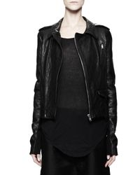 Rick Owens - Stooges Multizip Leather Jacket Black - Lyst