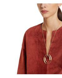 Tory Burch - Metallic Double-horn Pendant Necklace - Lyst