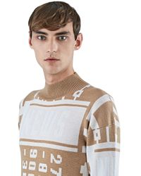 J.W.Anderson - Natural Men's News Mock Neck Sweater In Beige for Men - Lyst