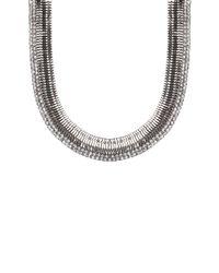 AKIRA - Metallic Silver Rail Necklace - Lyst