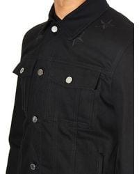 Givenchy - Black Embroidered-Stars Denim Jacket for Men - Lyst