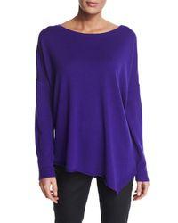 Eileen Fisher | Purple Merino Jersey Asymmetric Tunic | Lyst