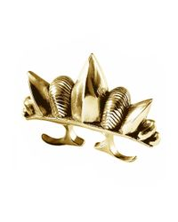 Pamela Love | Metallic Three Finger Spike Ring | Lyst
