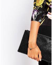 Ted Baker | Metallic Ultra Fine Crystal Cuff Bracelet | Lyst