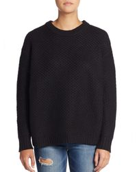 Marc By Marc Jacobs | Black Oversized Diamond-textured Wool Sweater | Lyst