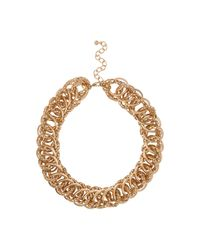 River Island | Metallic Gold Tone Chunky Chain Necklace | Lyst
