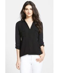 Splendid | Black Lightweight Chest Pocket Shirt | Lyst