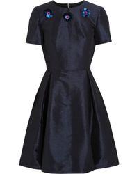 Lulu & Co | Black Embellished Two-Tone Stretch-Dupion Dress | Lyst