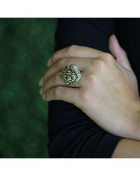 Wendy Yue | Metallic Golden Diamond Bird Ring | Lyst