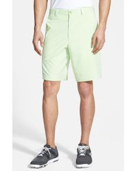 Cutter & Buck | Green 'barclay' Drytec Flat Front Golf Shorts for Men | Lyst