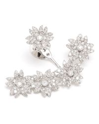 Yvonne Léon - White Diamond Flower Lobe Earring - Lyst