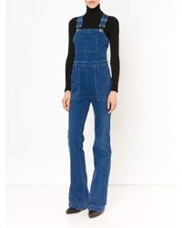 7f37d495acaa Lyst - Stella McCartney Wide Leg Overalls in Blue
