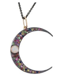 Andrea Fohrman | Black Crescent Moon Pendant Necklace | Lyst