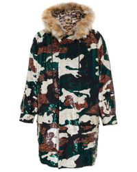 Ashish - Green Sequinned Camouflage Parka - Lyst